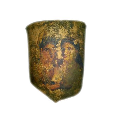 Teja rostros romanos